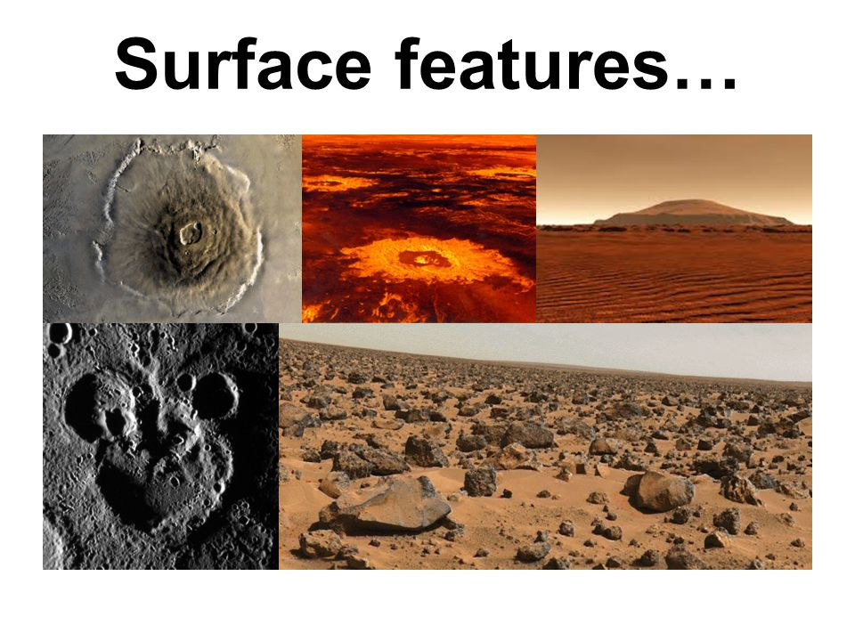 Surface features…