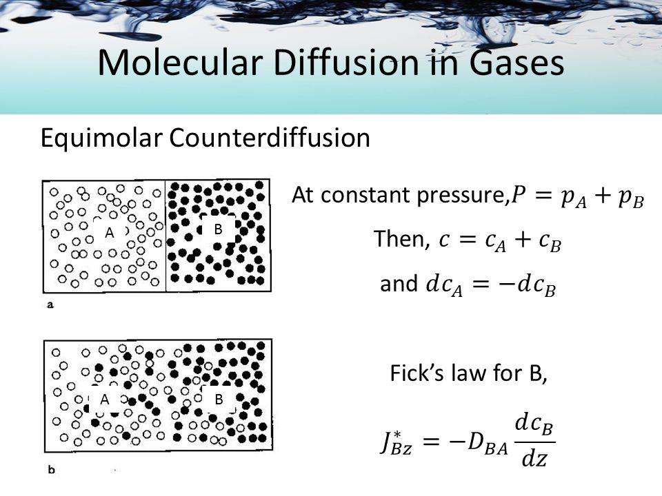 Molecular Diffusion in Gases
