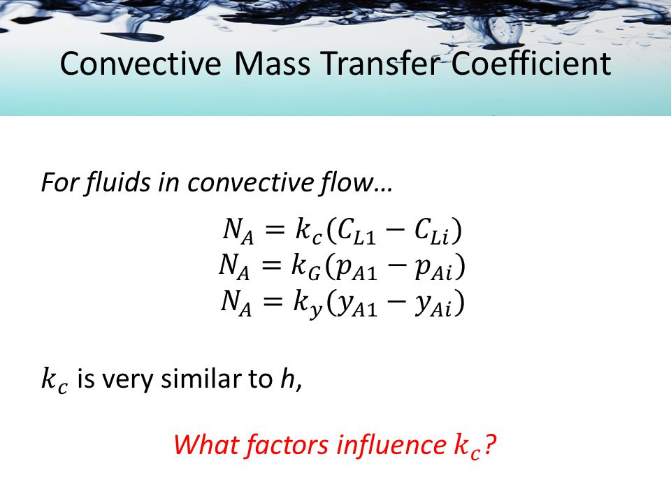Convective Mass Transfer Coefficient