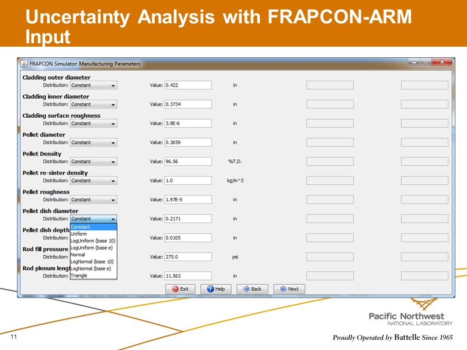 Uncertainty Analysis with FRAPCON-ARM Input