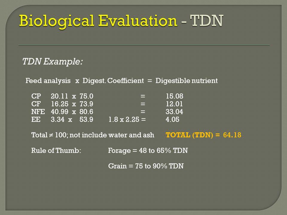 Biological Evaluation - TDN