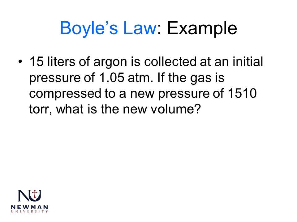 Boyle's Law: Example