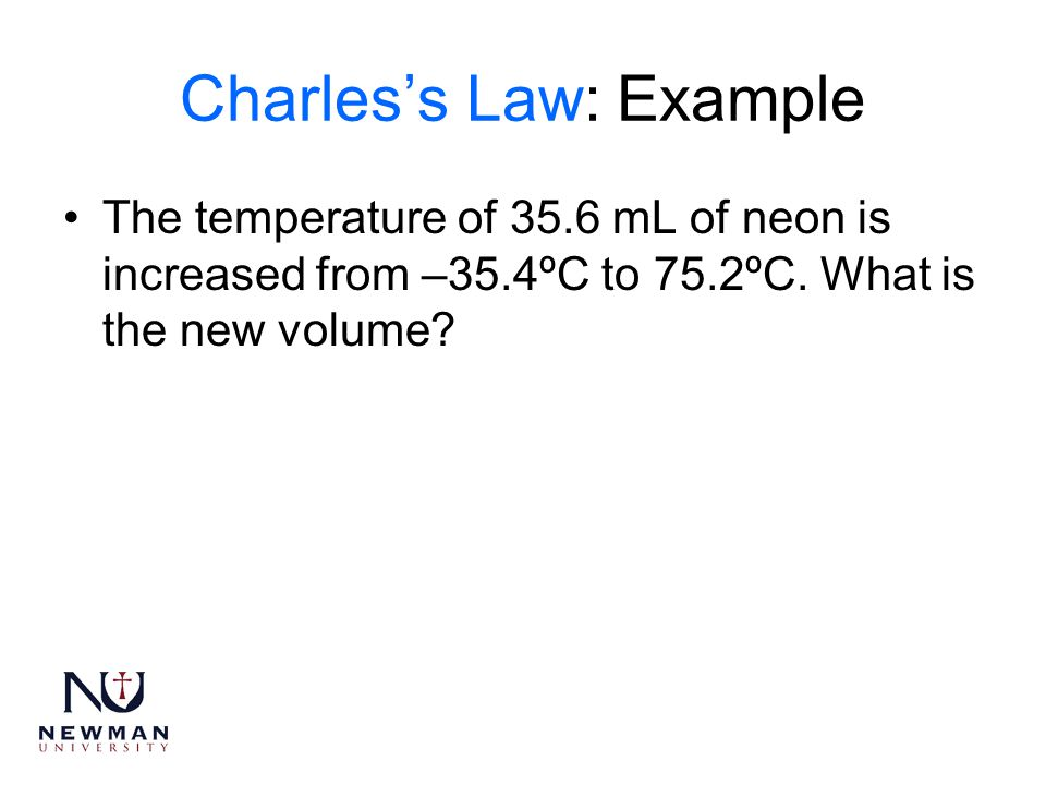 Charles's Law: Example