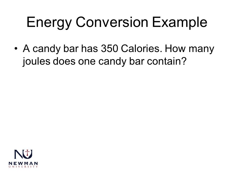 Energy Conversion Example