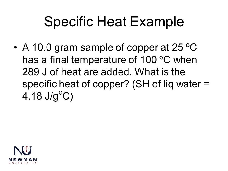 Specific Heat Example