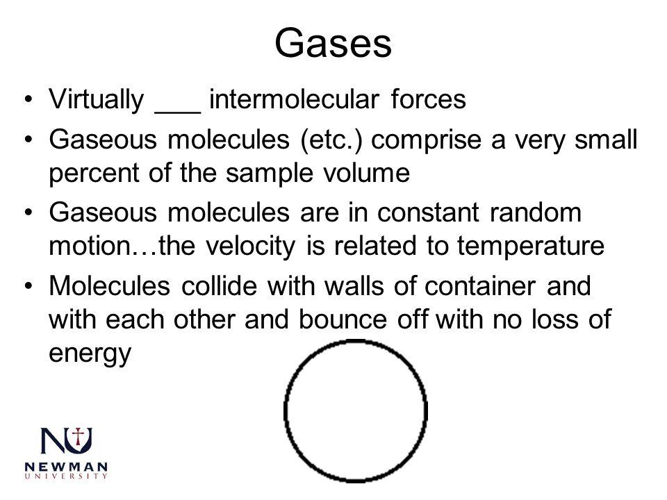Gases Virtually ___ intermolecular forces