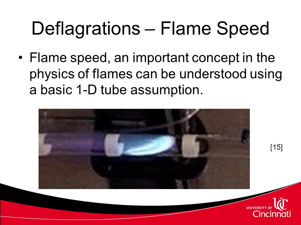 Deflagrations – Flame Speed