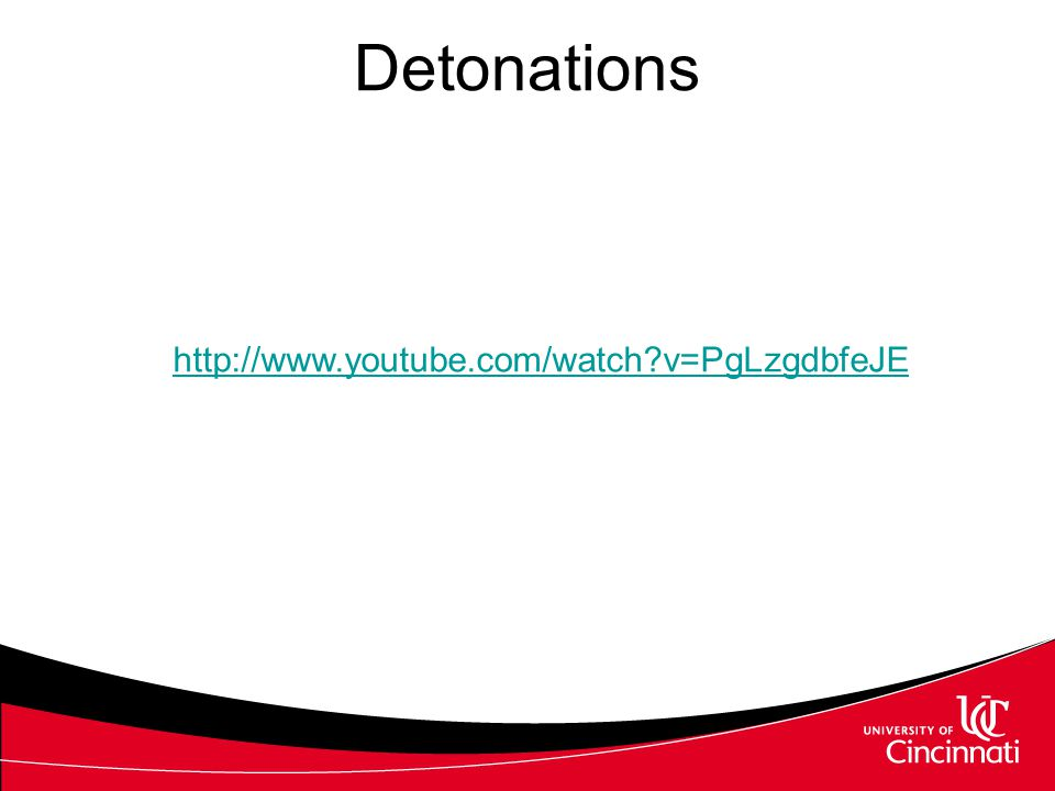 Detonations http://www.youtube.com/watch v=PgLzgdbfeJE