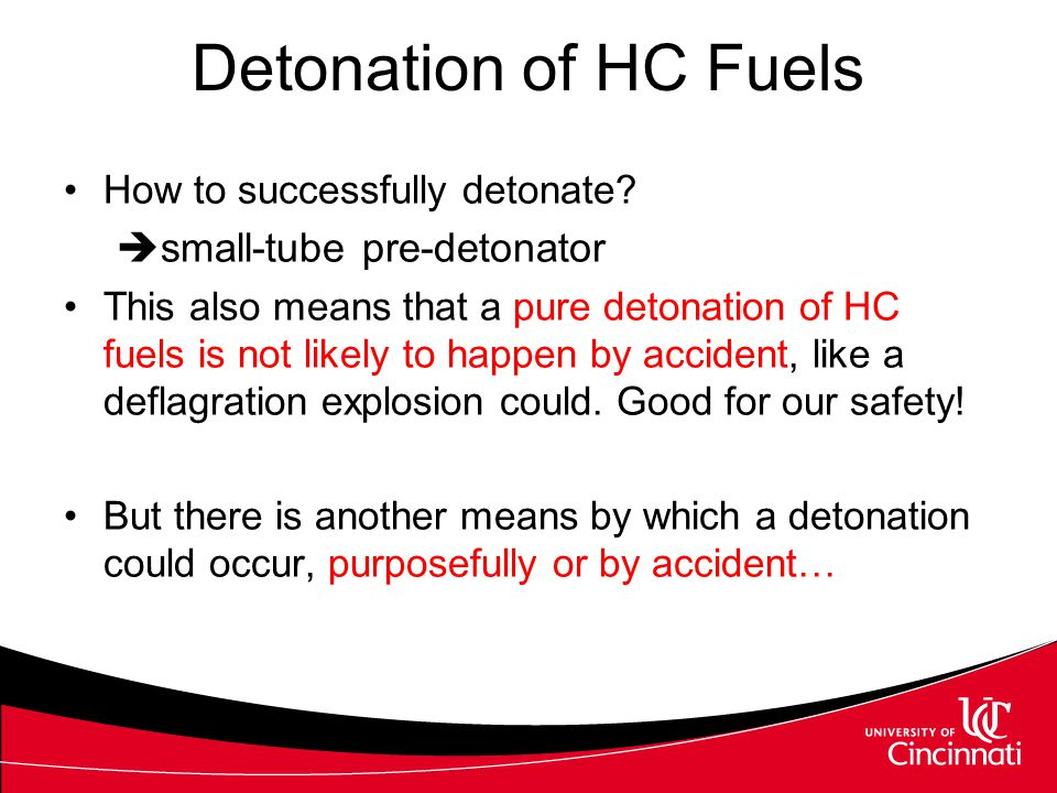 Detonation of HC Fuels small-tube pre-detonator