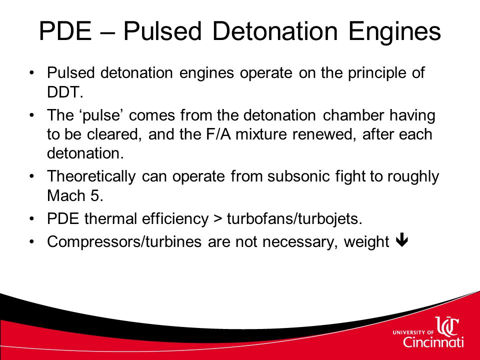 PDE – Pulsed Detonation Engines