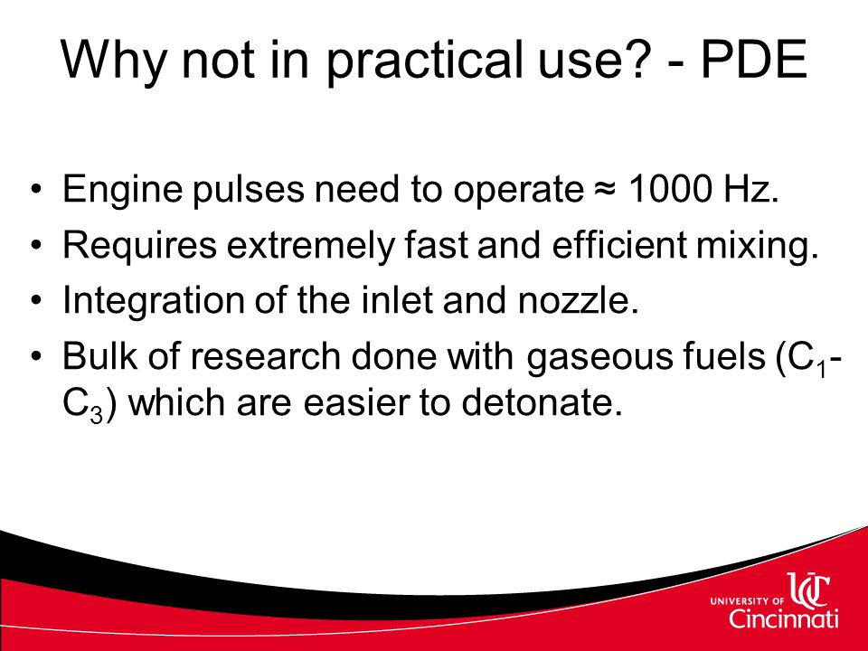 Why not in practical use - PDE