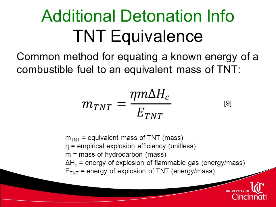 Additional Detonation Info TNT Equivalence