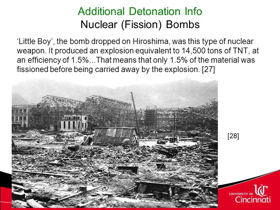 Additional Detonation Info Nuclear (Fission) Bombs