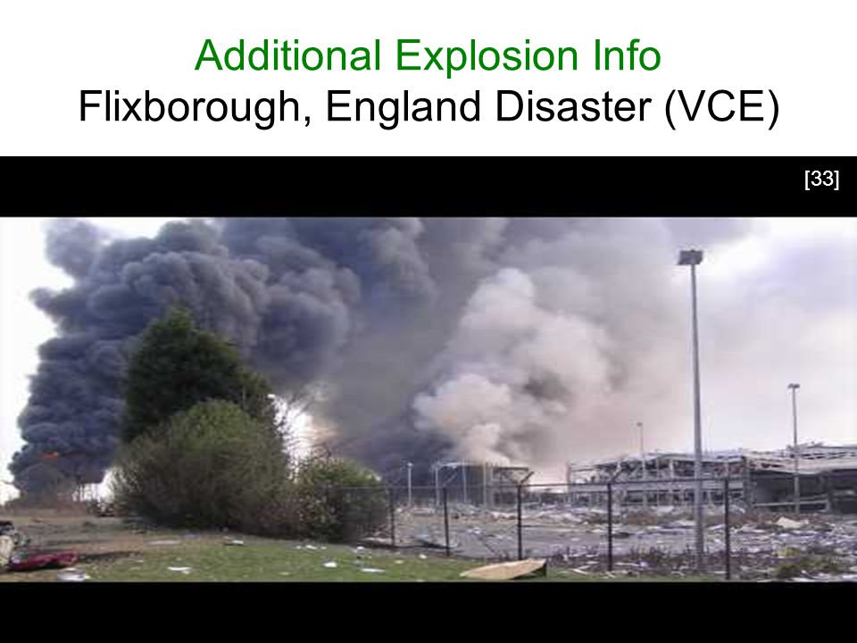 Additional Explosion Info Flixborough, England Disaster (VCE)