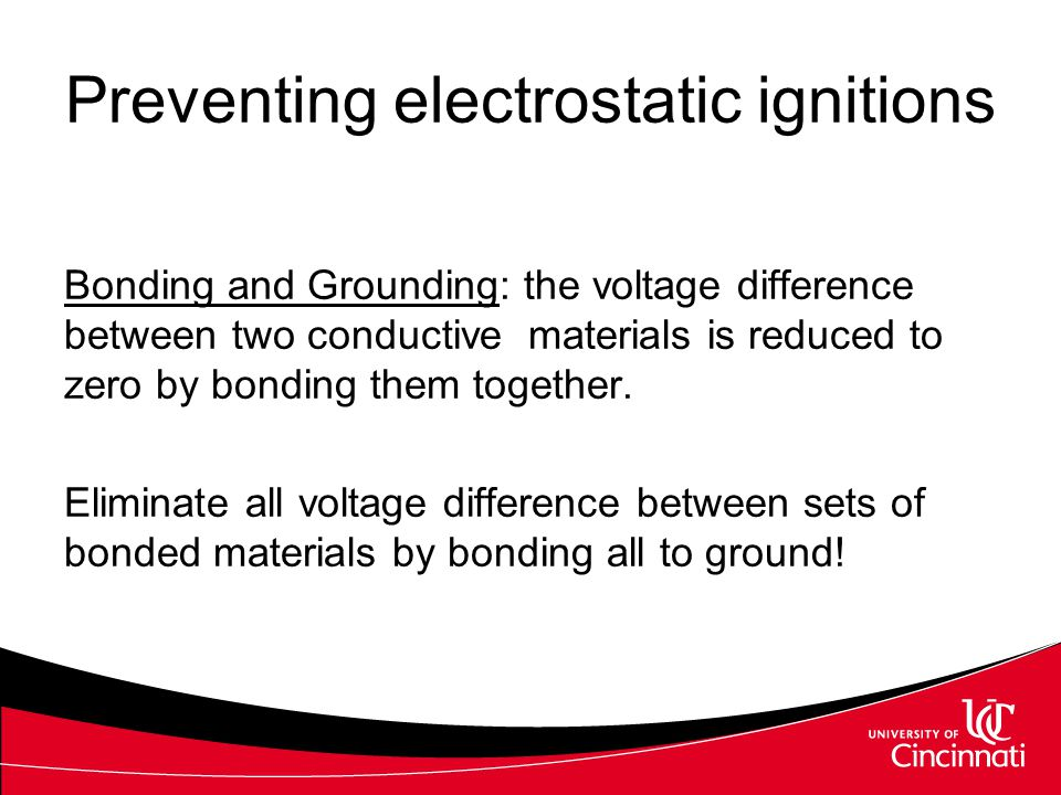 Preventing electrostatic ignitions