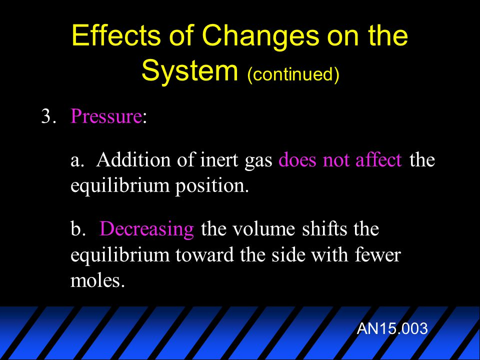 Effects of Changes on the System (continued)