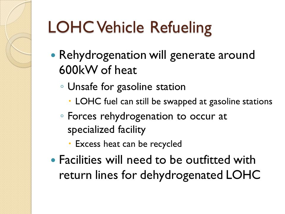 LOHC Vehicle Refueling
