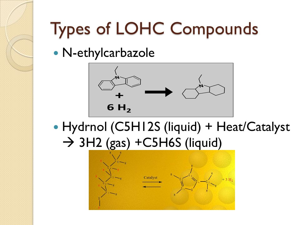 Types of LOHC Compounds