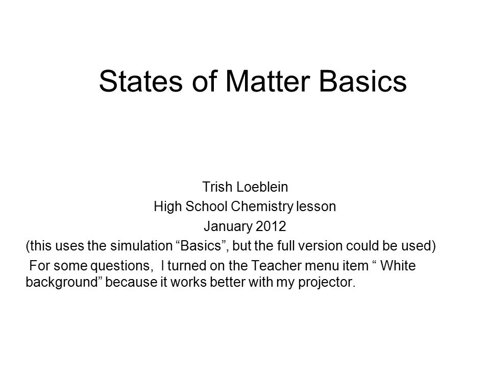 States of Matter Basics ppt download – States of Matter Worksheet High School