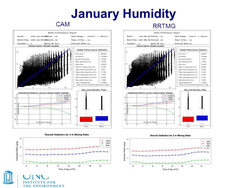 January Humidity CAM RRTMG