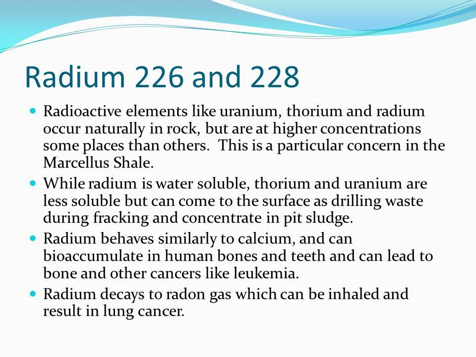Radium 226 and 228
