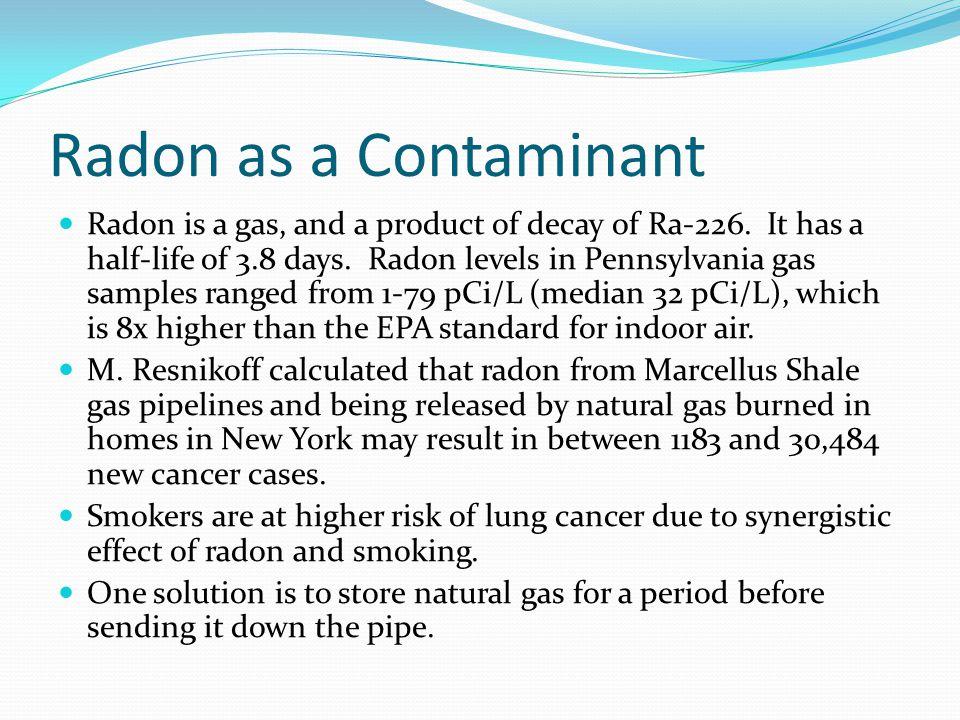 Radon as a Contaminant