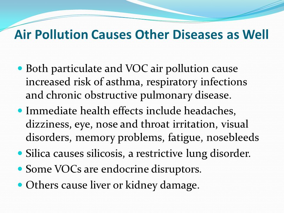 Air Pollution Causes Other Diseases as Well