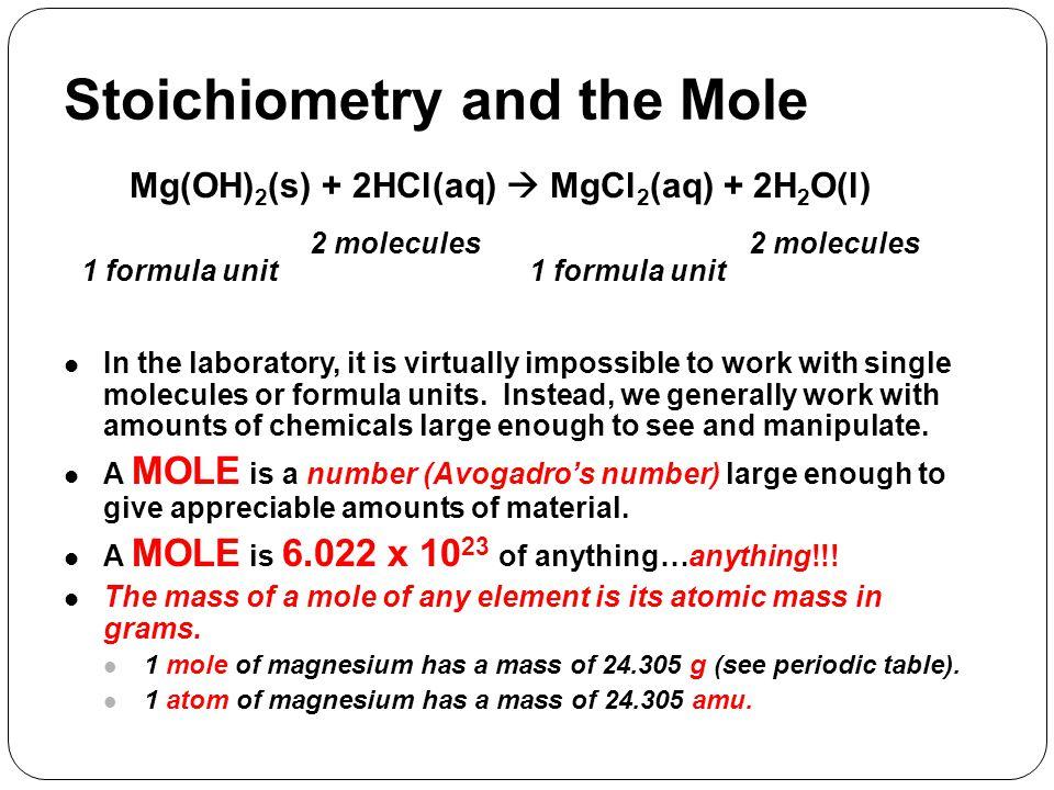 Mg(OH)2(s) + 2HCl(aq)  MgCl2(aq) + 2H2O(l)