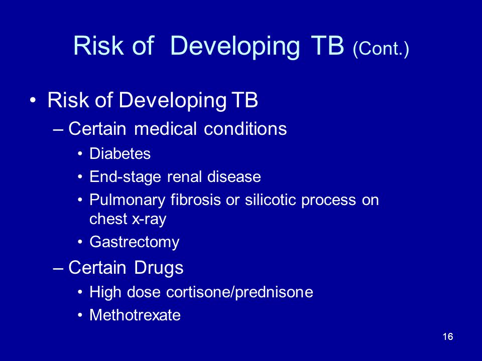 Risk of Developing TB (Cont.)