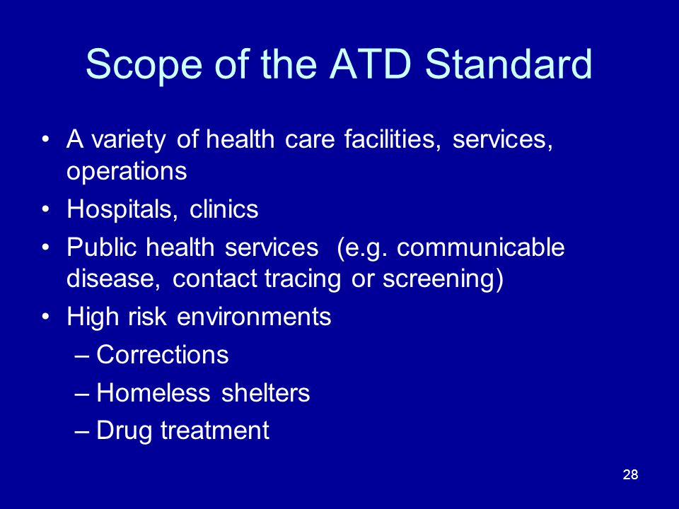 Scope of the ATD Standard
