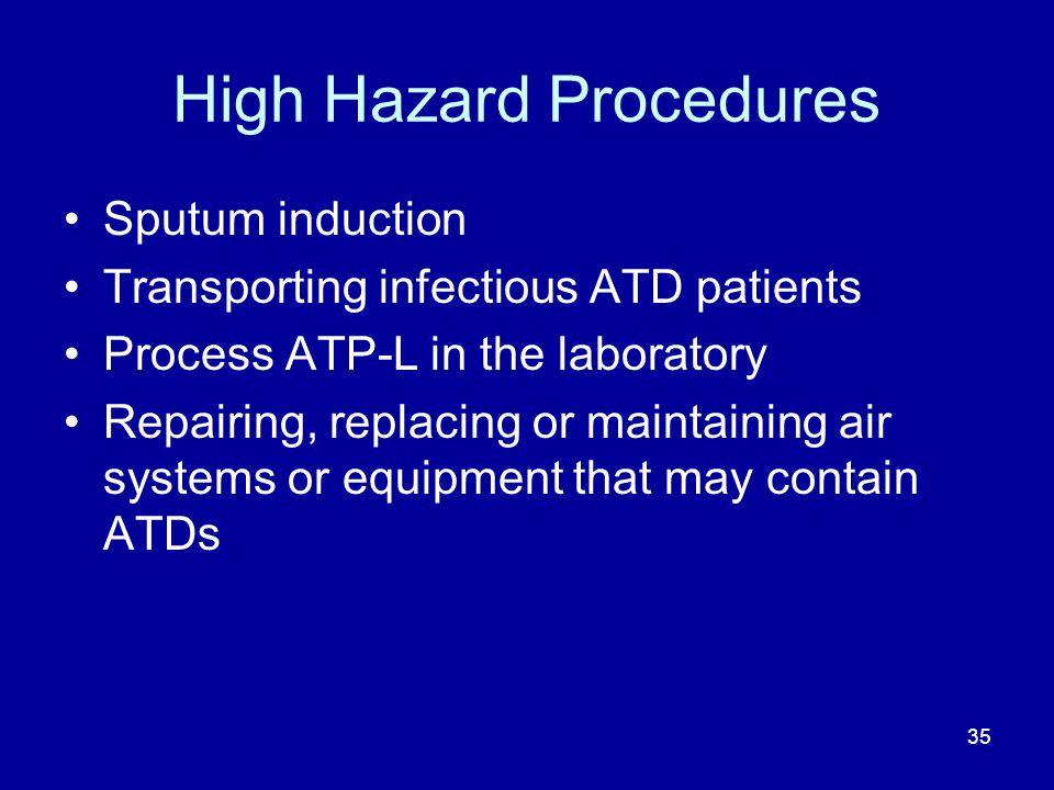 High Hazard Procedures