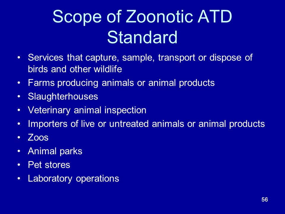 Scope of Zoonotic ATD Standard