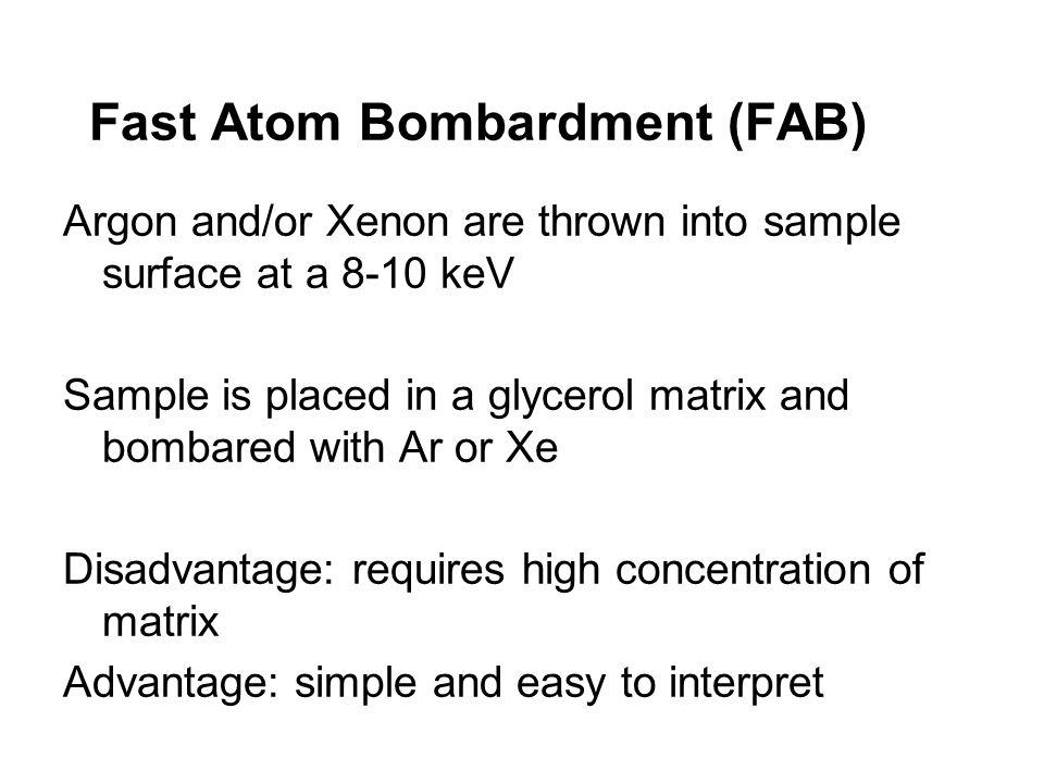 Fast Atom Bombardment (FAB)
