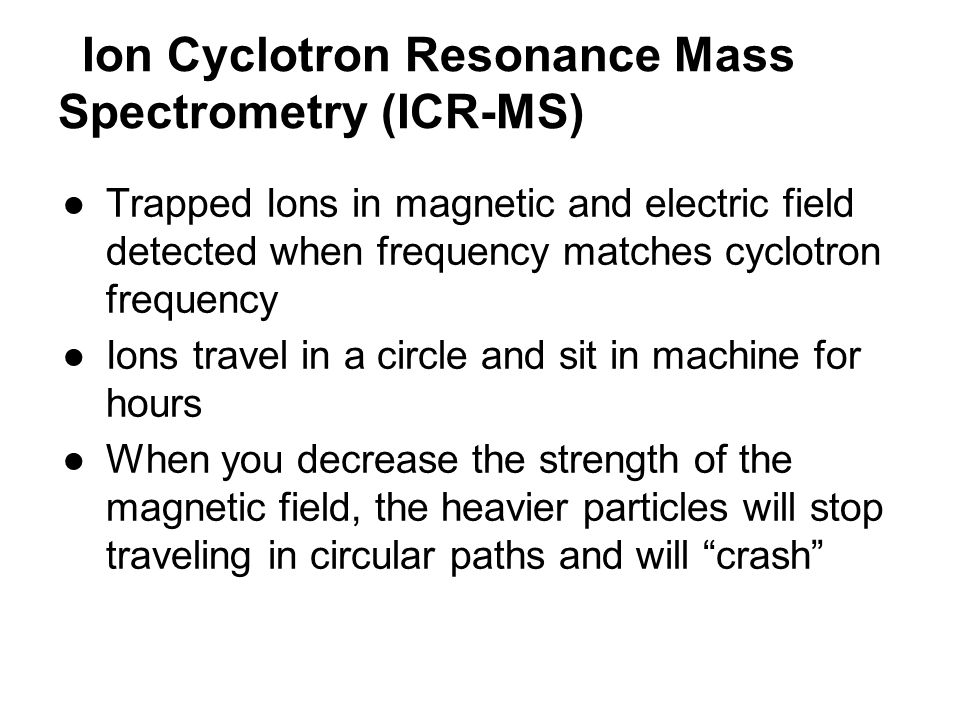 Ion Cyclotron Resonance Mass Spectrometry (ICR-MS)