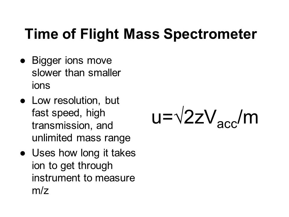 Time of Flight Mass Spectrometer