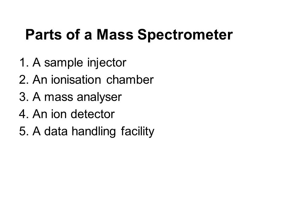 Parts of a Mass Spectrometer