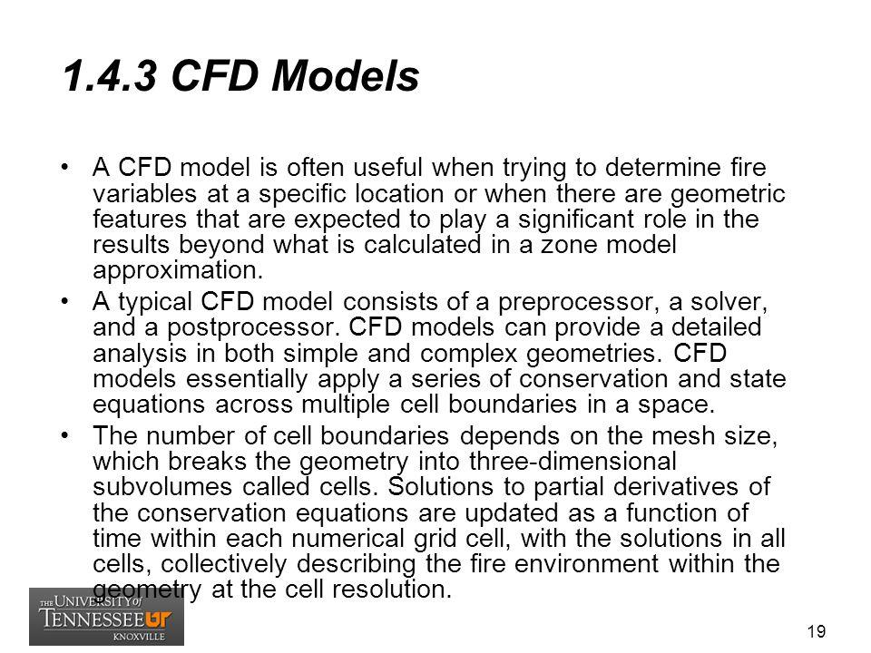 1.4.3 CFD Models