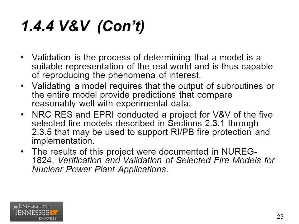1.4.4 V&V (Con't)