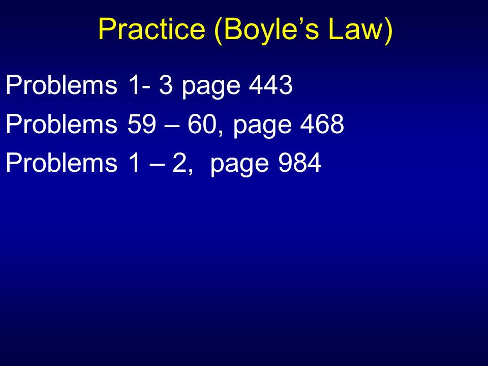 Practice (Boyle's Law)