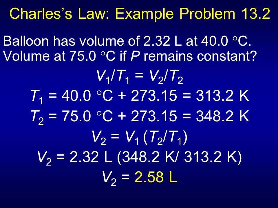 Charles's Law: Example Problem 13.2