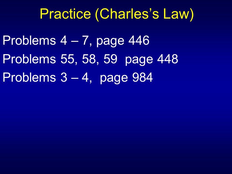Practice (Charles's Law)
