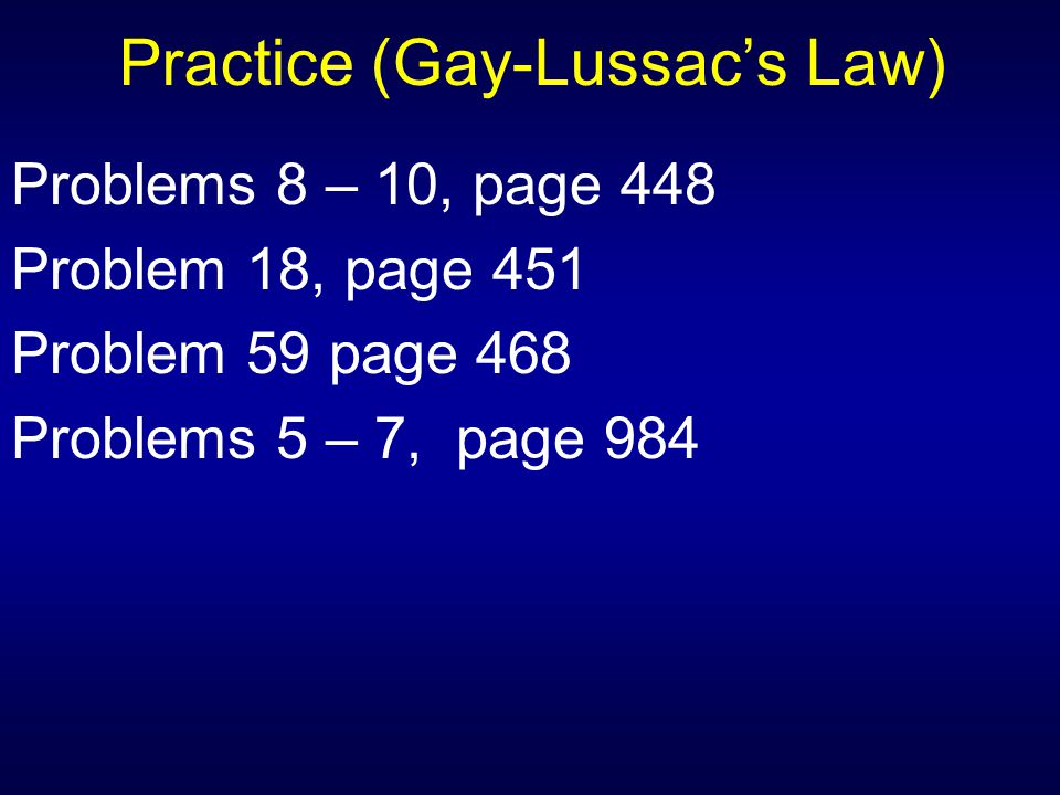 Practice (Gay-Lussac's Law)