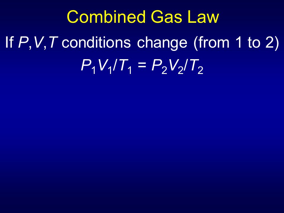 If P,V,T conditions change (from 1 to 2)