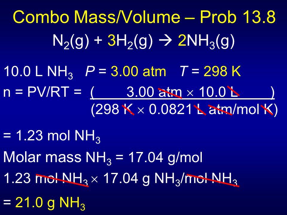 Combo Mass/Volume – Prob 13.8