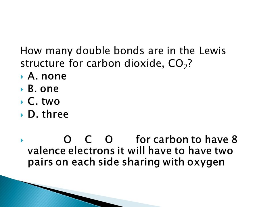 How many double bonds are in the Lewis