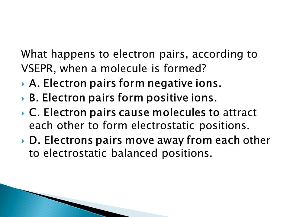 What happens to electron pairs, according to