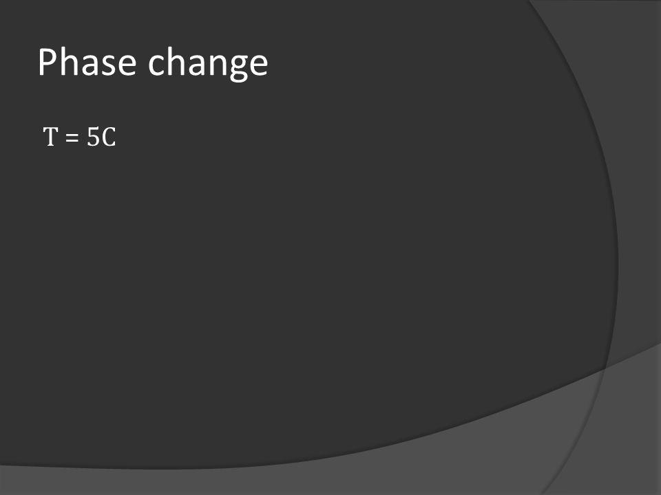 Phase change T = 5C