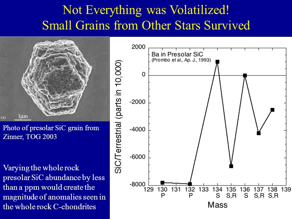 Not Everything was Volatilized! Small Grains from Other Stars Survived