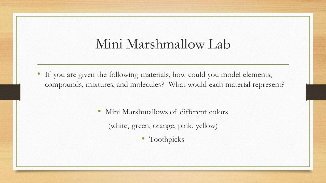 Mini Marshmallow Lab