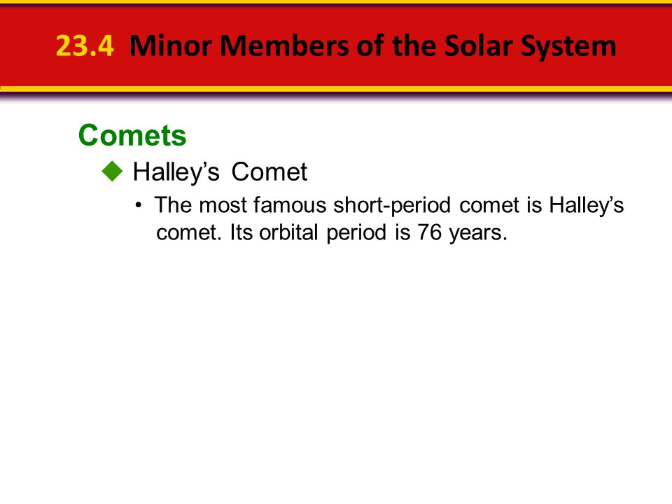 23.4 Minor Members of the Solar System